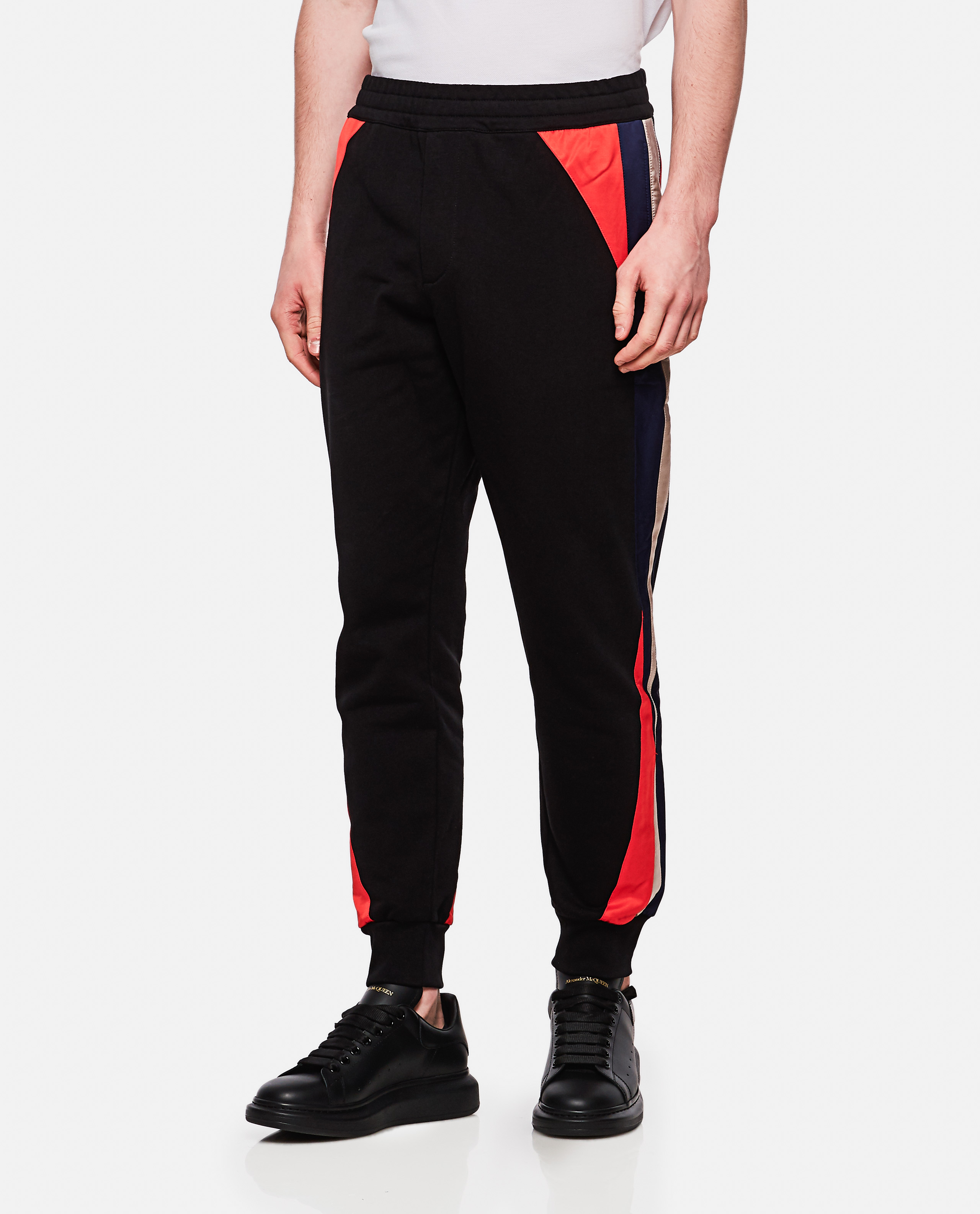 Sporty cotton trousers