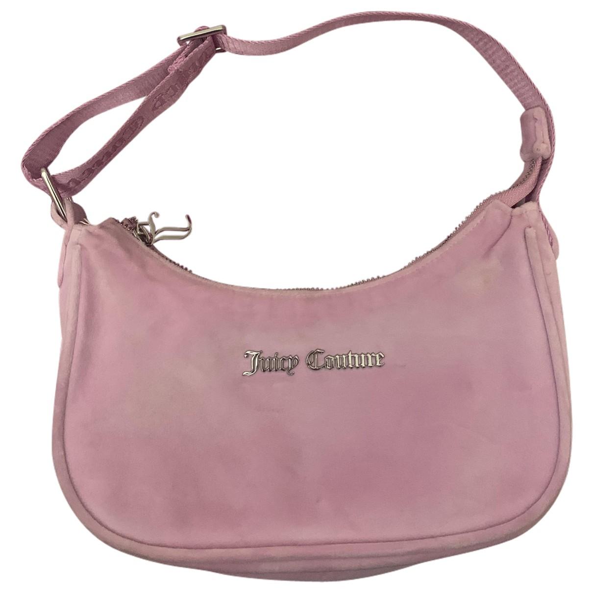Juicy Couture - Sac a main   pour femme en velours - rose