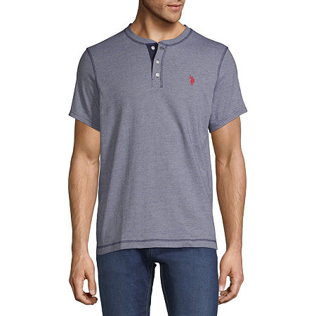 U.S. Polo Assn. Mens Henley Neck Short Sleeve T-Shirt, Xx-large , Blue