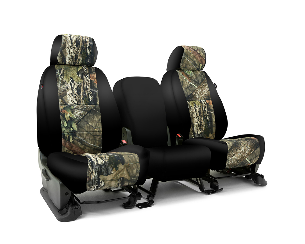 Coverking CSC2MO10FD9656 Skanda Custom Seat Covers 1 Row Neosupreme Mossy Oak Break Up Country with Black Sides Front Ford F-250 | F-350 Super Duty 20