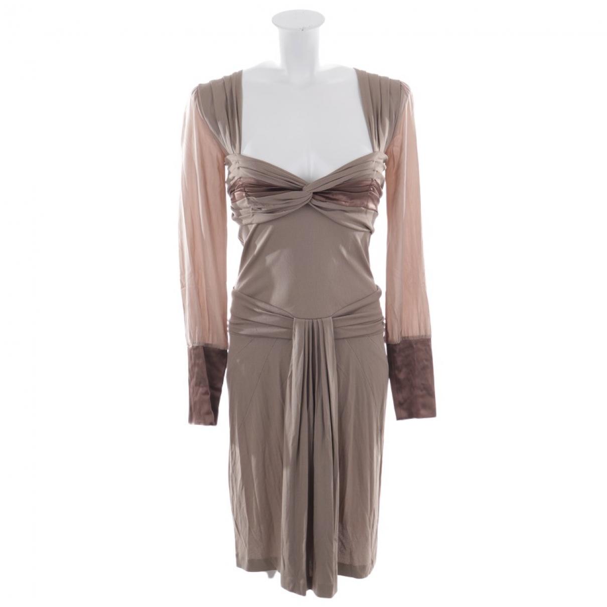 Vestido de Cuero Blumarine