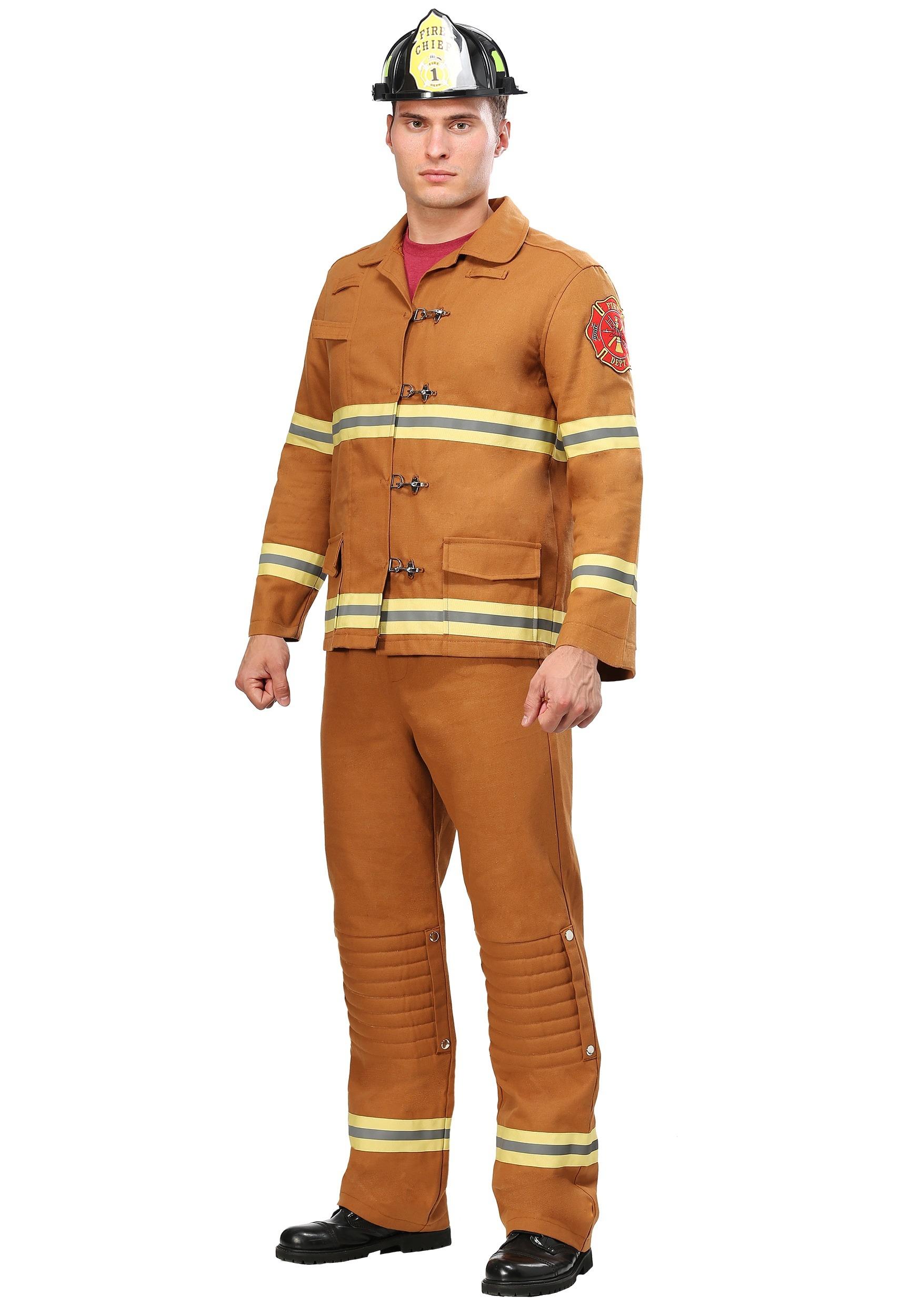 Tan Firefighter Uniform Costume for Men