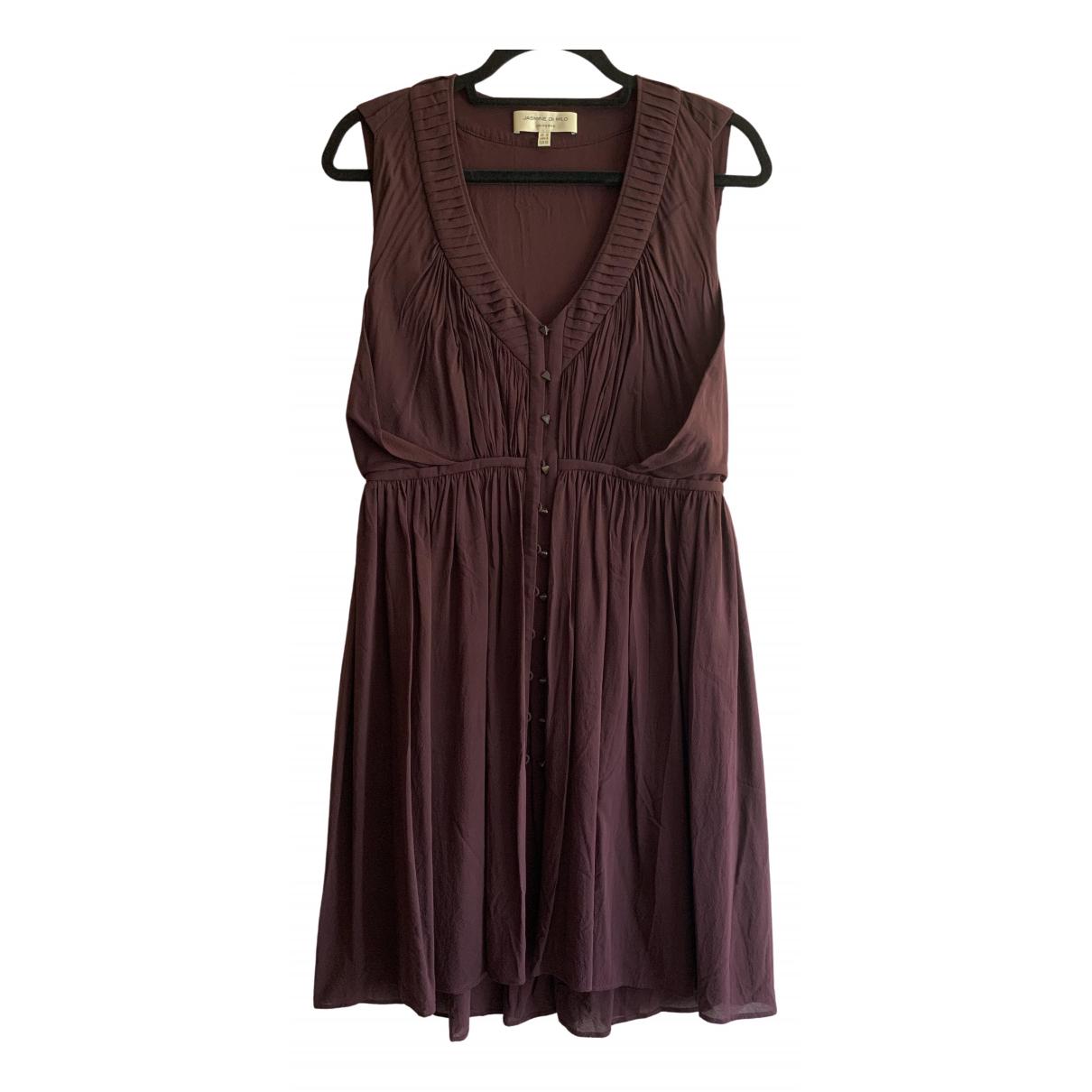 Jasmine Di Milo \N Kleid in  Bordeauxrot Seide