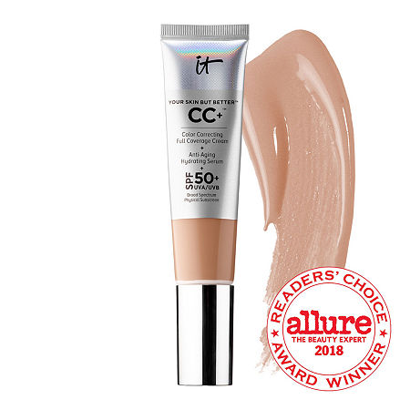 IT Cosmetics Your Skin But Better CC+ Cream with SPF 50+, One Size , Beige