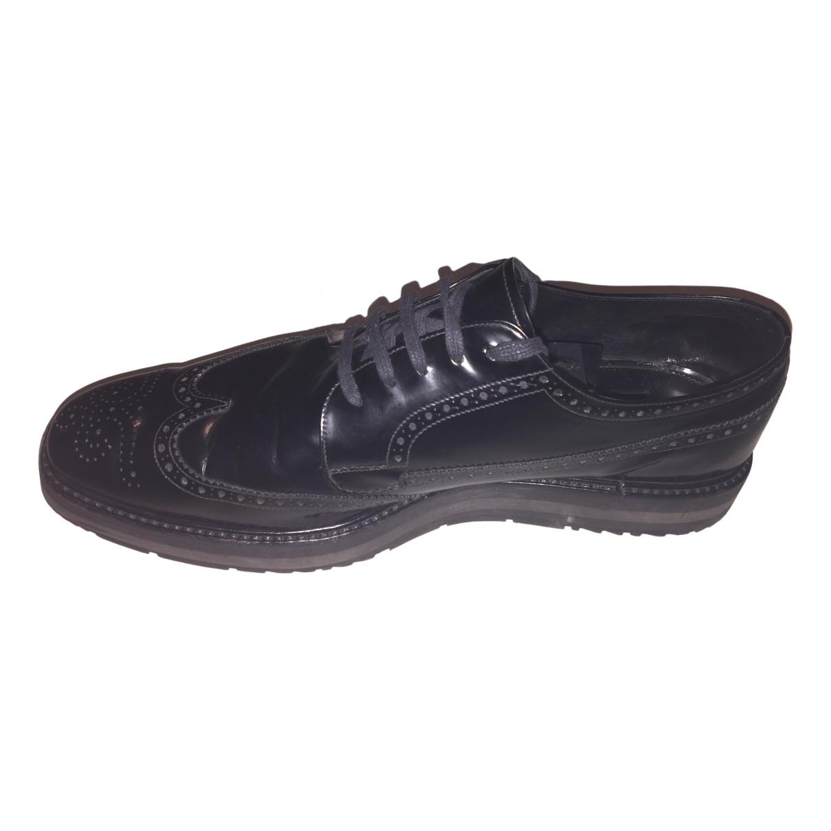 Prada N Black Leather Lace ups for Men 12 UK