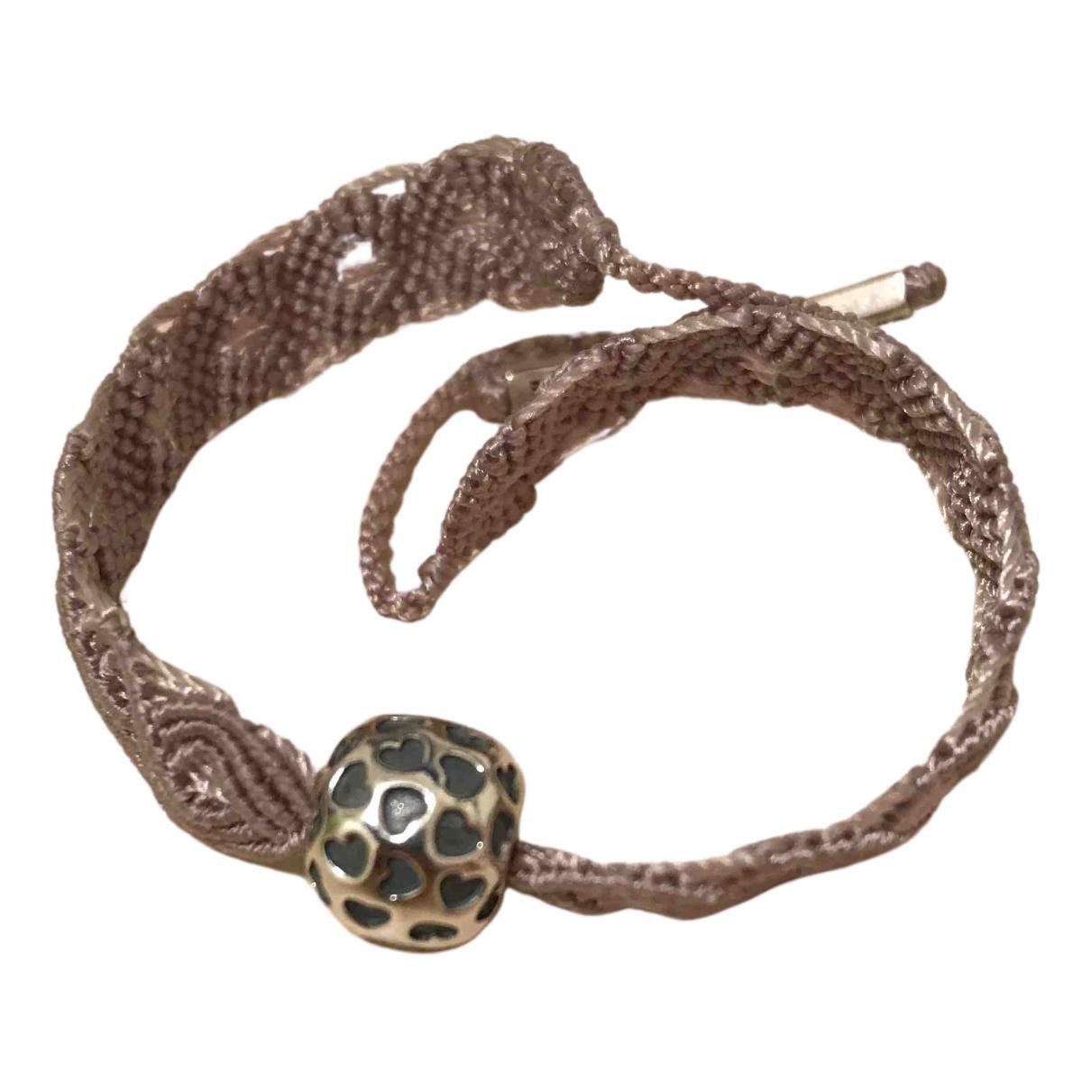 Pandora - Bracelet   pour femme en toile - rose