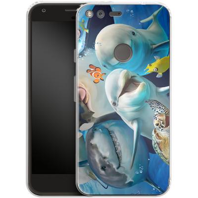 Google Pixel XL Silikon Handyhuelle - Ocean Selfie von Howard Robinson