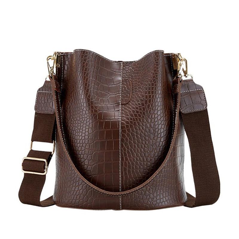 Ericdress Thread PU Alligator Barrel-Shaped Shoulder Bags