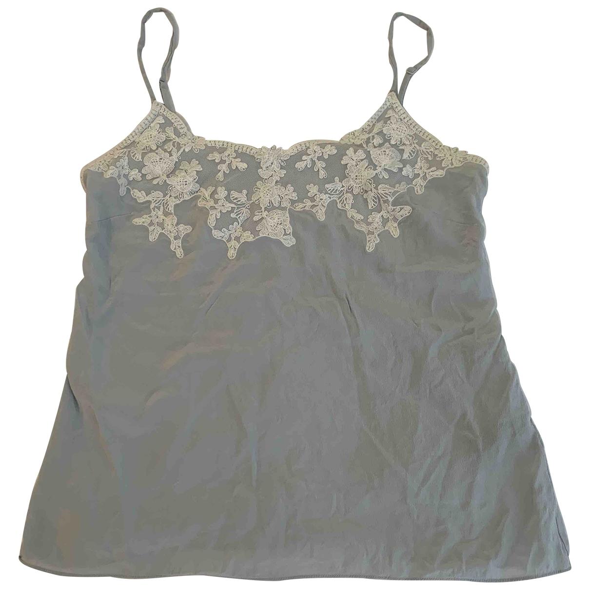 Jigsaw \N Blue Silk  top for Women 8 UK