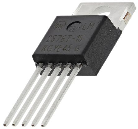 ON Semiconductor , LM2576T-15G Step-Down Switching Regulator, 1-Channel 3A 5-Pin, TO-220 (5)