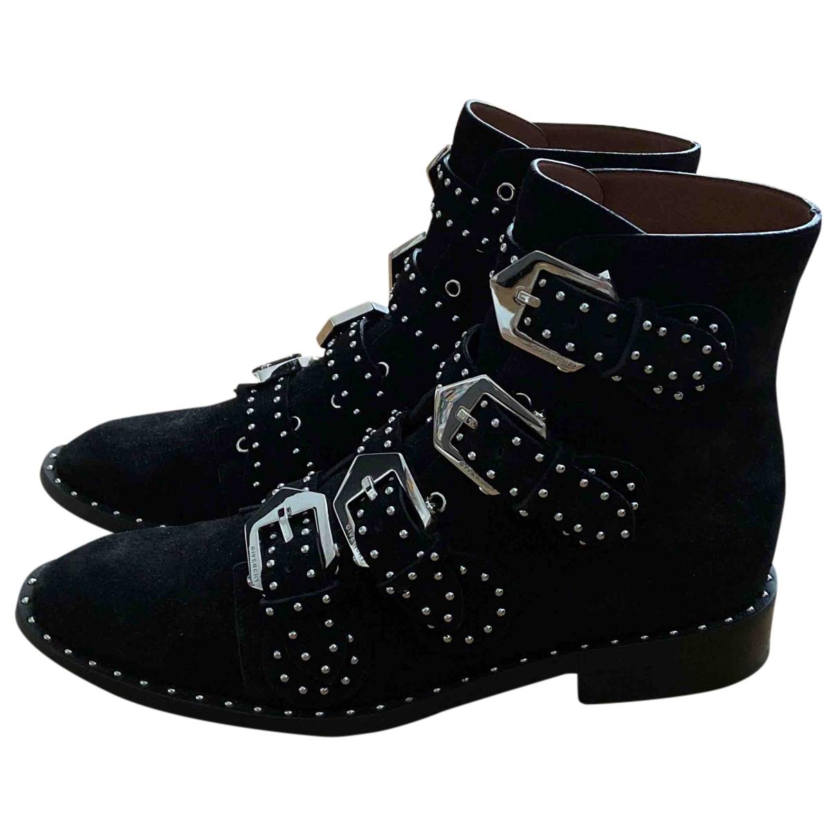 Givenchy - Boots   pour femme en suede - noir