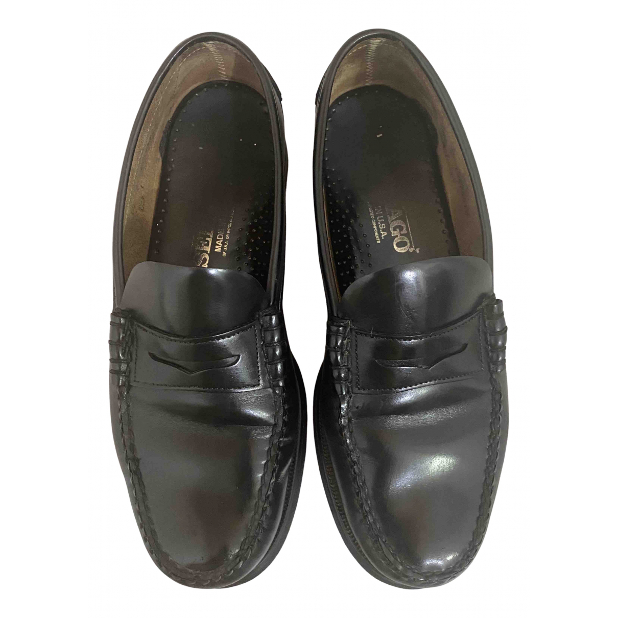 Sebago - Derbies   pour homme en cuir - noir