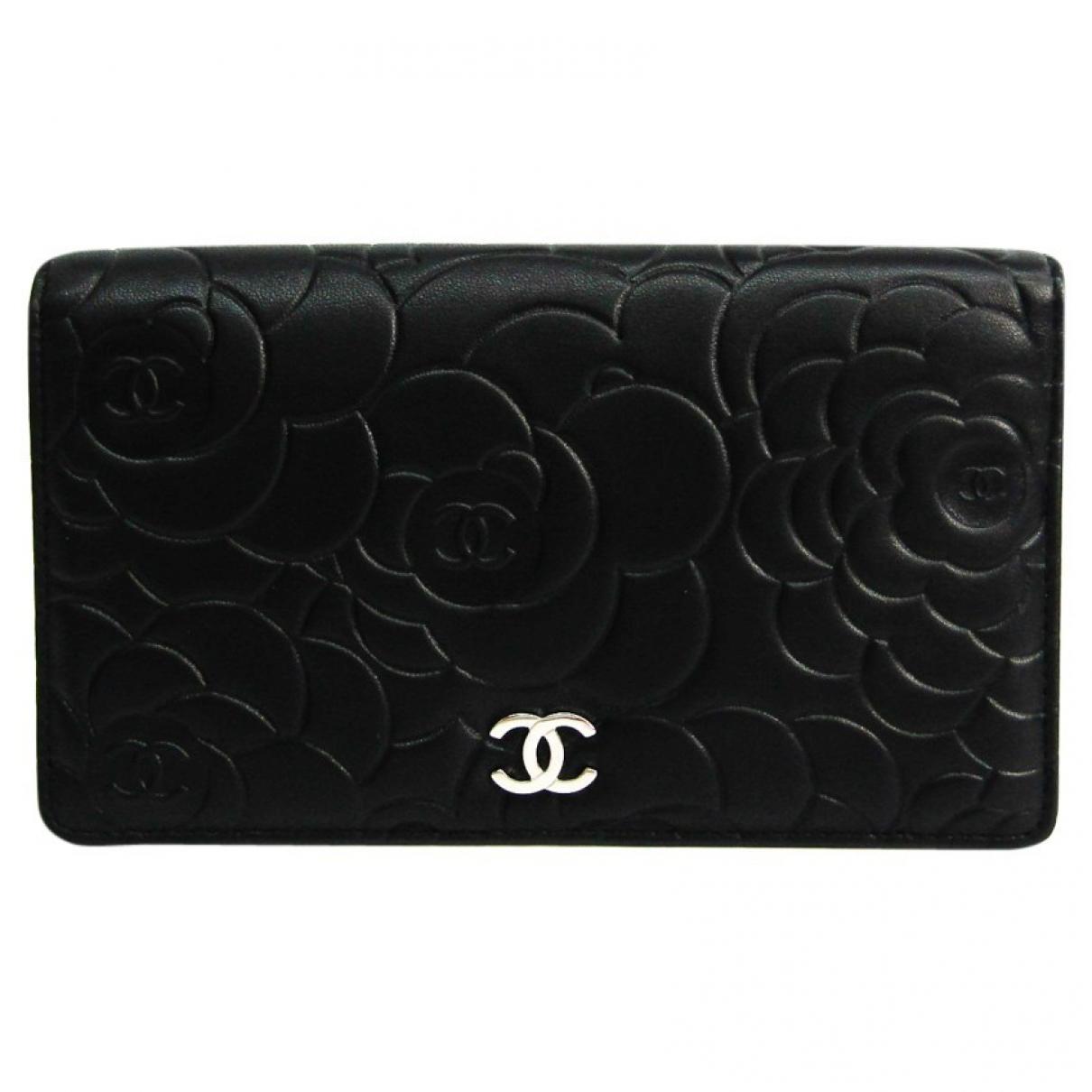 Chanel N Black Leather wallet for Women N