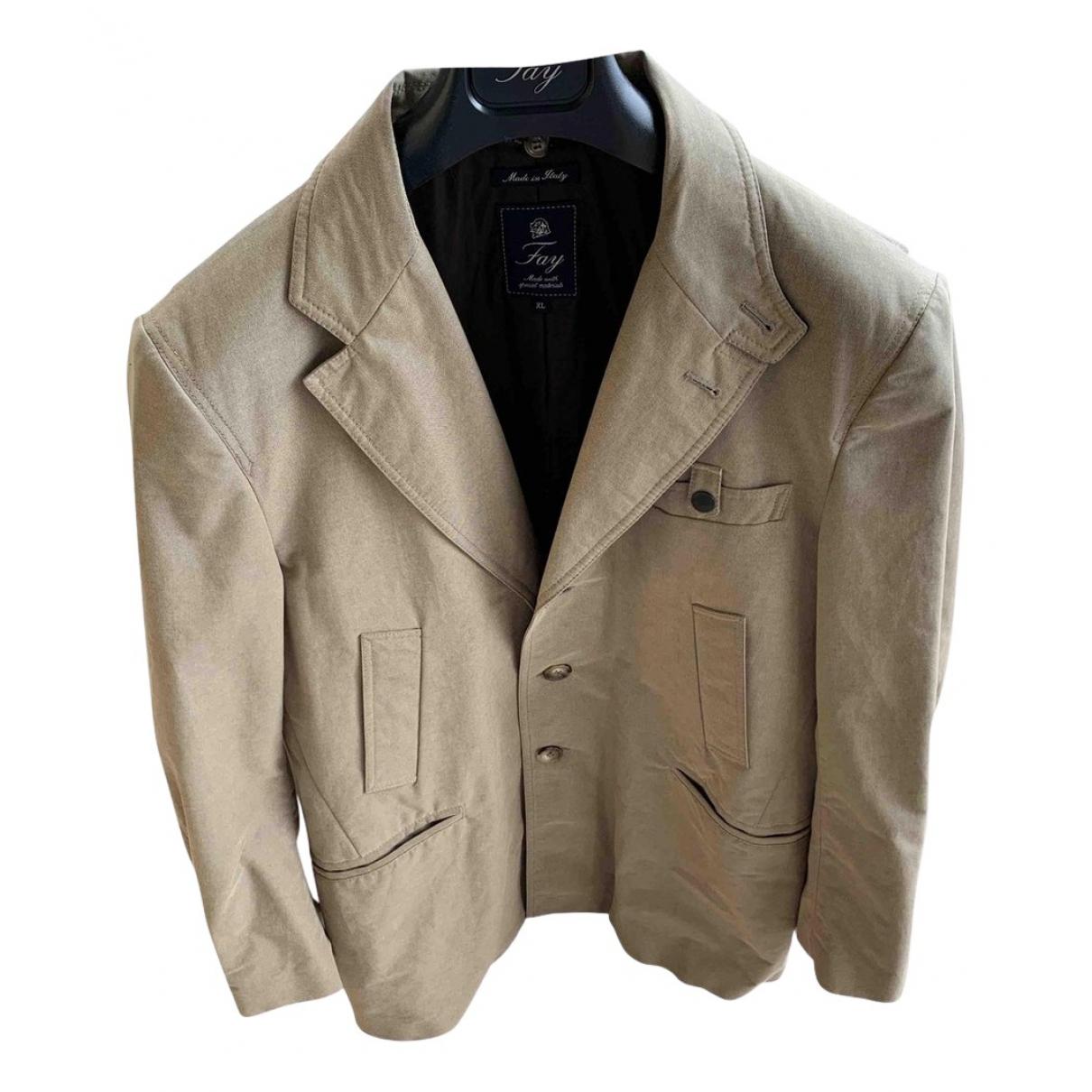Fay - Manteau   pour homme en coton - beige