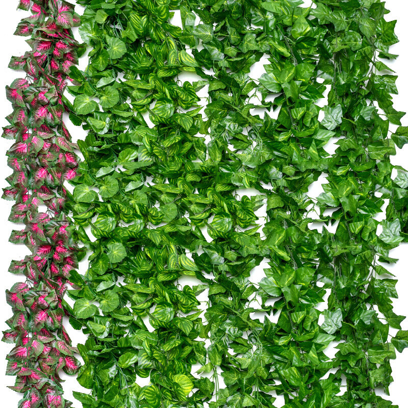 Decorative Flowers & Wreaths Artificial Ivy Leaf Garland Plants Vine Fake Foliage Flowers Home Decor