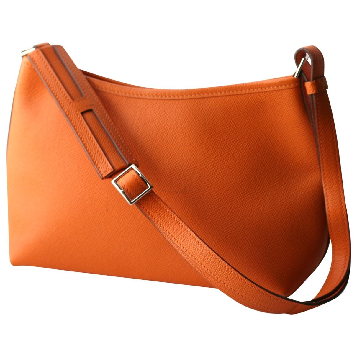 Hermes \N Handtasche in  Orange Leder