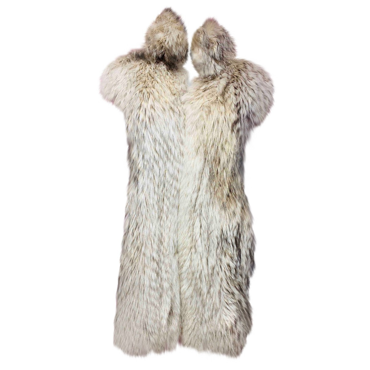 Non Signé / Unsigned N White Fox coat for Women 44 IT