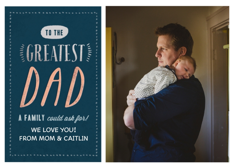 Father's Day 5x7 Folded Cards, Premium Cardstock 120lb, Card & Stationery -Greatest Dad