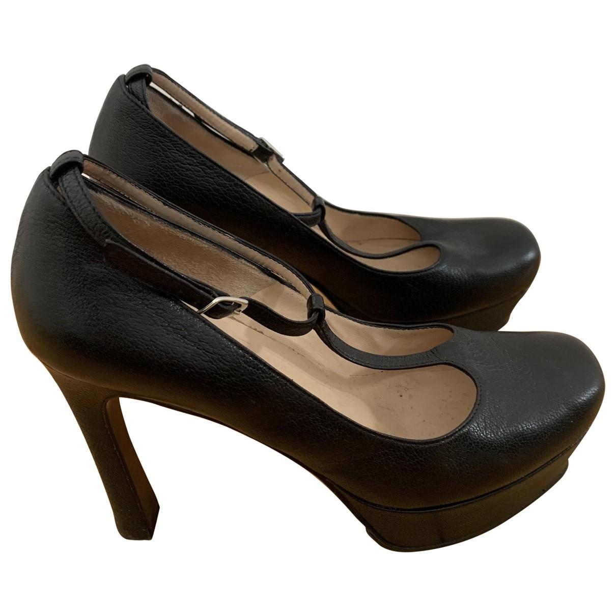 Lella Baldi - Escarpins   pour femme en cuir - noir