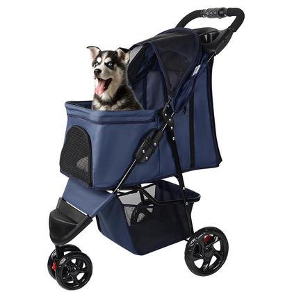 Poussette pour animaux domestiques à trois roues pour chien chat - LIVINGbasics™
