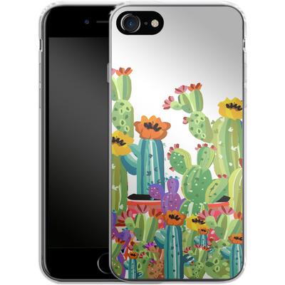 Apple iPhone 7 Silikon Handyhuelle - Cacti Land von Mukta Lata Barua