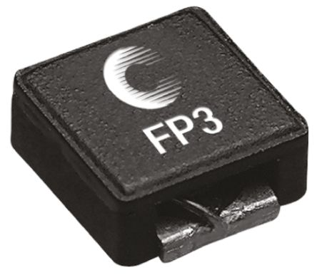 Eaton Bussmann Series , Flat-Pac 3, FP3 Wire-wound SMD Inductor with a Composite Iron Powder Core, 4.7 μH ±15% (5)