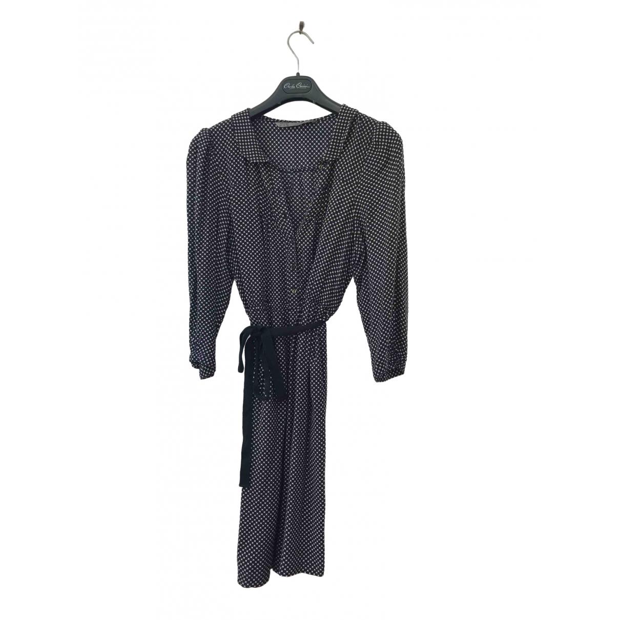 Zara - Robe   pour femme en coton - noir