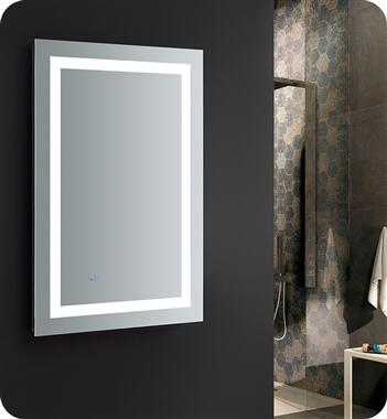 FMR022436 Santo 24 Wide x 36 Tall Bathroom Mirror with LED Lighting and