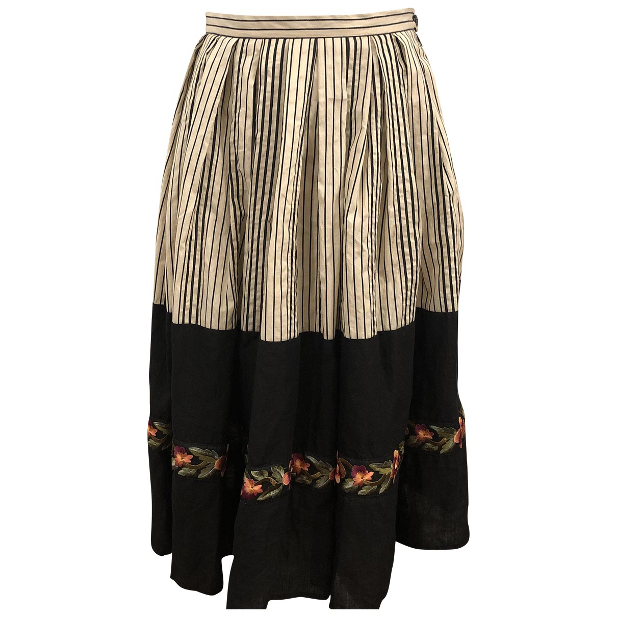 Attic And Barn \N Black Cotton skirt for Women 44 IT