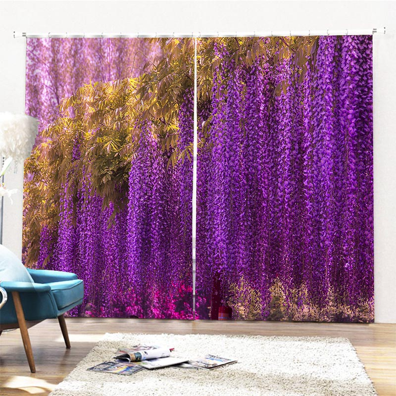 Beddinginn Ultraviolet-Proof Modern Floral Curtains/Window Screens