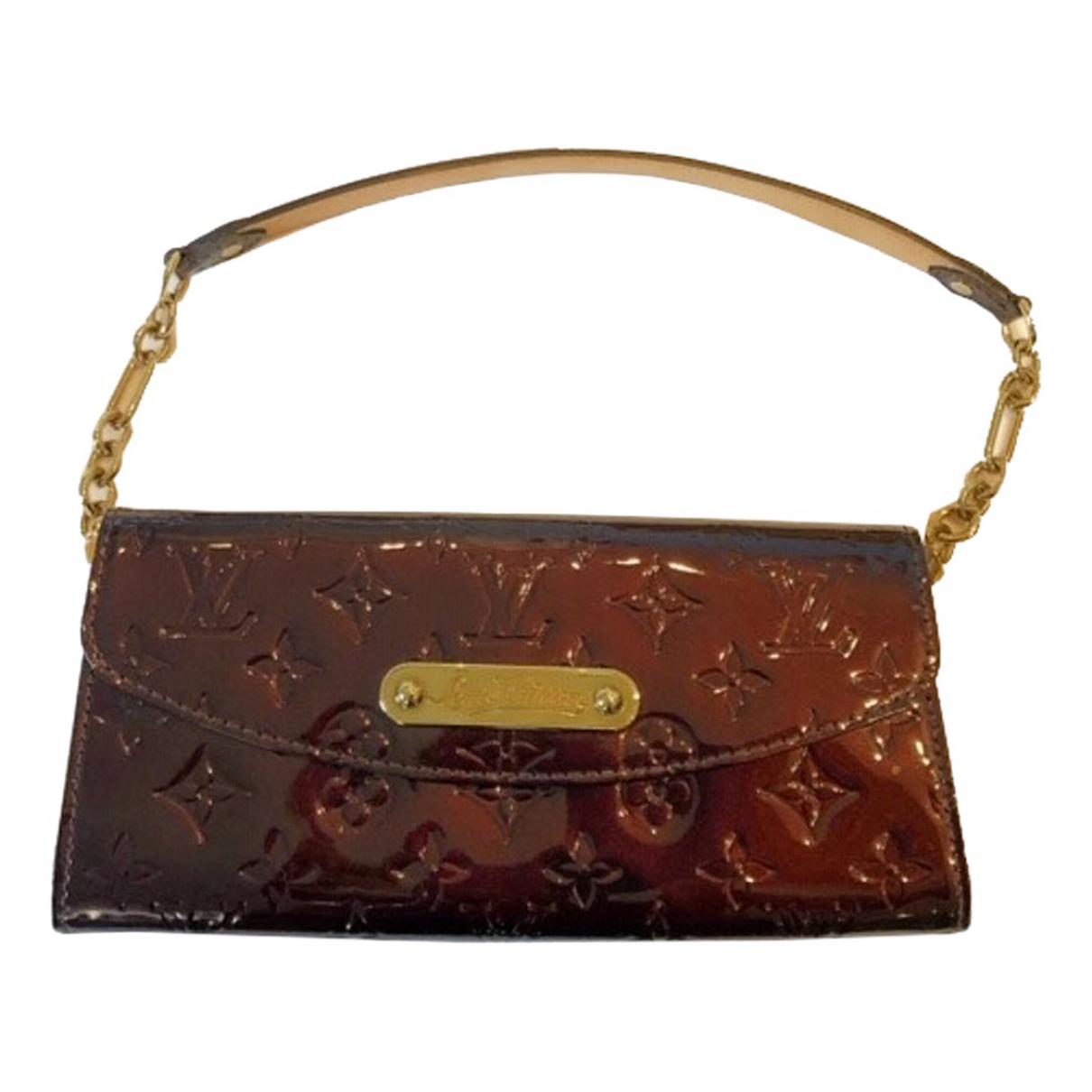 Louis Vuitton - Pochette Sunset Boulevard pour femme en cuir verni - marron