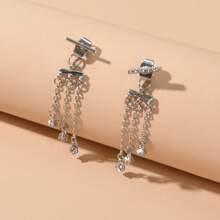 Tassel Chain Drop Earrings