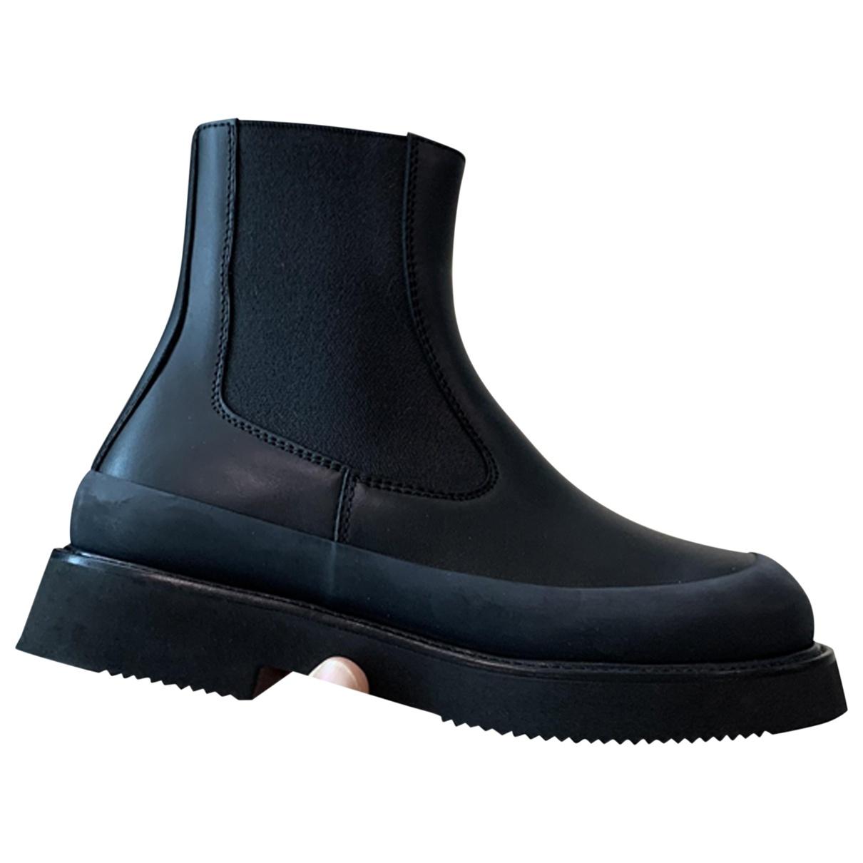 Celine - Boots Country Boots pour femme en cuir - noir