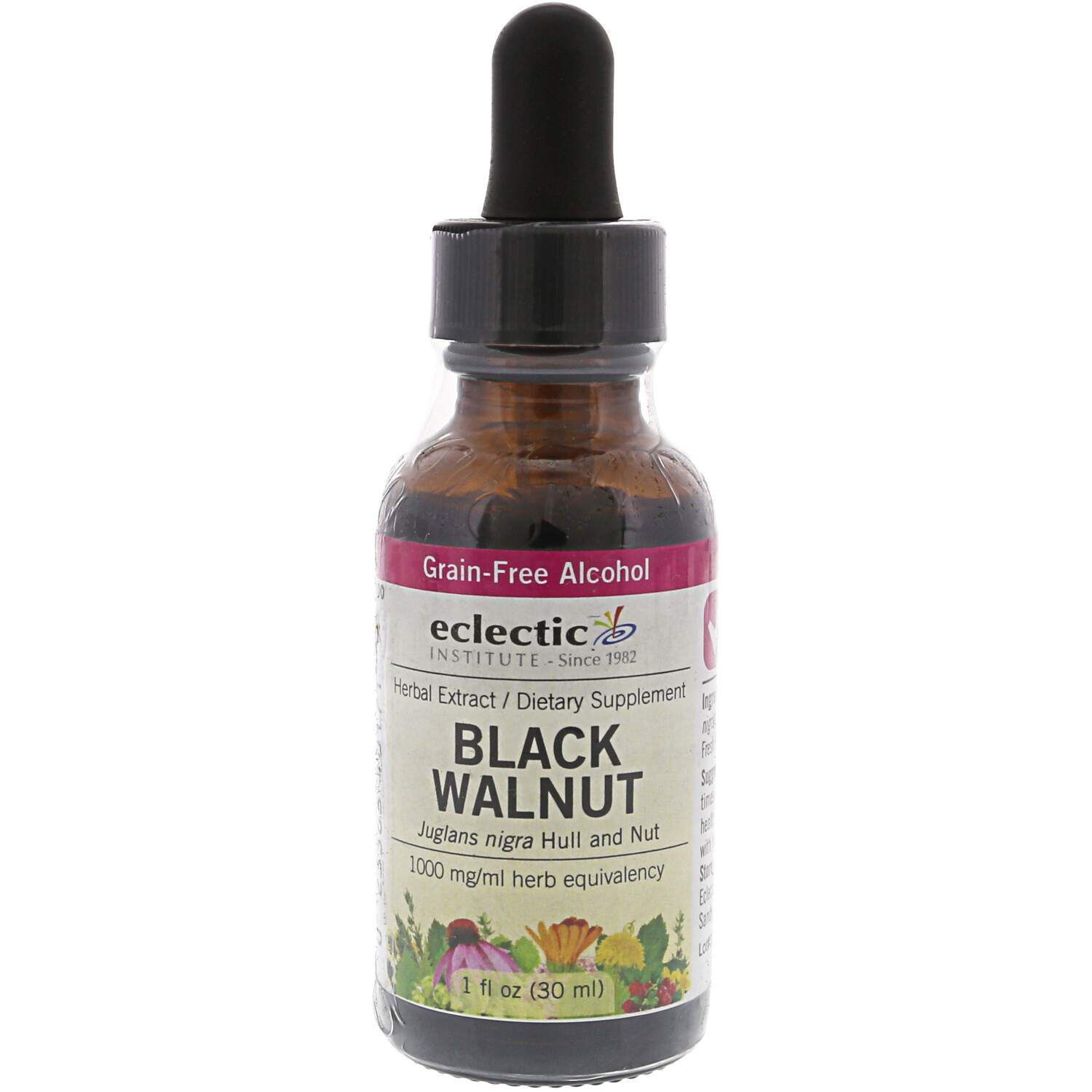 Eclectic Institute Herbal Extract Vitamin and Nutrient Black Walnut - 1 oz