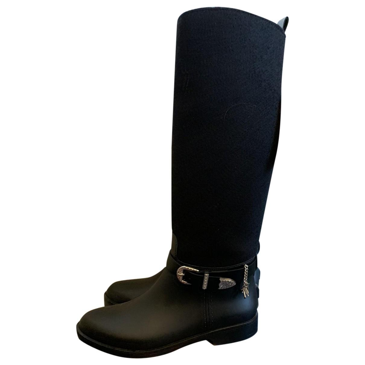 Trussardi Jeans \N Black Rubber Boots for Women 40 IT