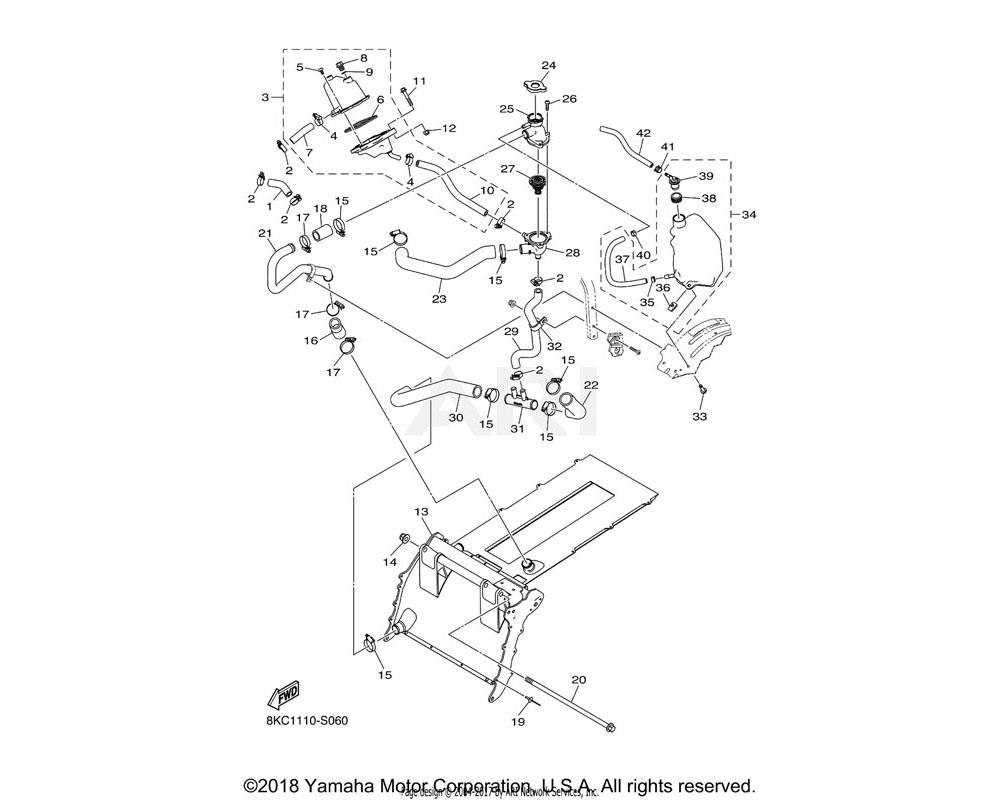 Yamaha OEM 8KC-E2440-00-00 HEAT EXCHANGER ASSY