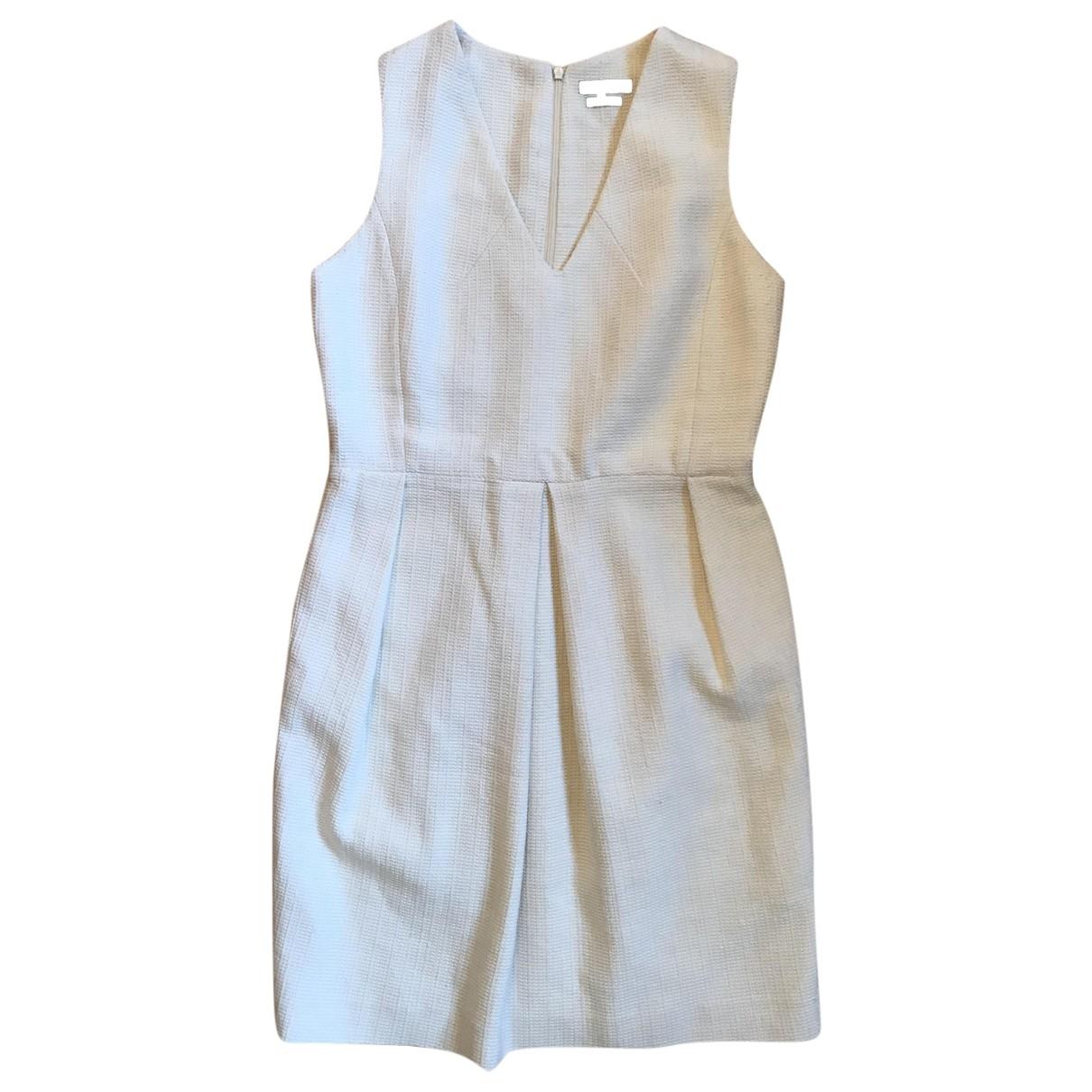 Massimo Dutti \N Kleid in  Weiss Baumwolle