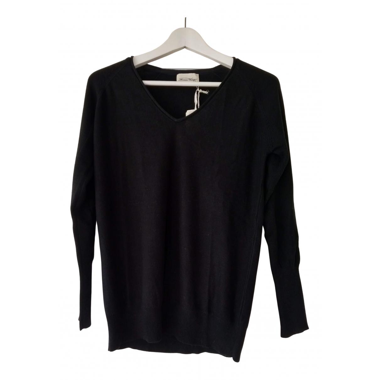 American Vintage - Pull   pour femme en coton - noir