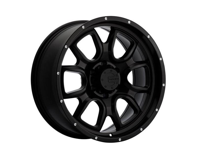 Mamba Wheels M196865135 M19 Wheel 16x8 5x114.3 13 BKMTMA Matte Black w/Drill Holes