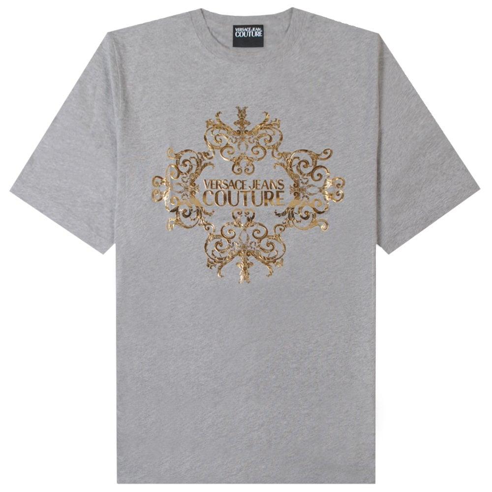 Versace Jeans Couture Gold Logo T-Shirt Colour: GREY, Size: LARGE
