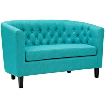 Prospect Collection EEI-2614-PUR 49 Loveseat with Chesterfield Style  Espresso Rubberwood Legs  Tufted Buttons  Pine Wood Frame and Polyester Fabric