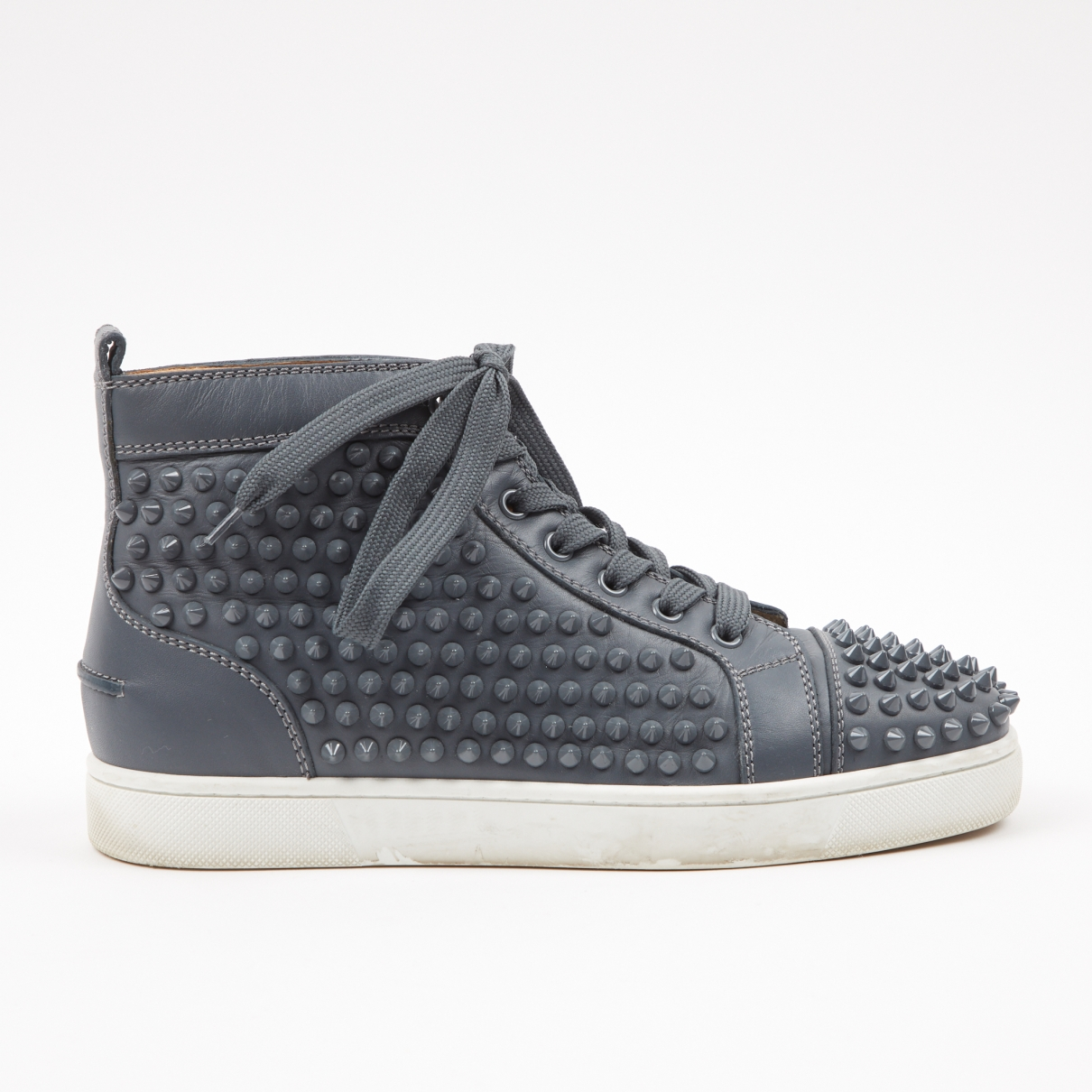 Christian Louboutin - Baskets   pour homme en cuir - gris