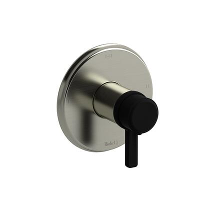 Momenti MMRD23JBNBK 2-Way Thermostatic/Pressure Balance Coaxial Complete Valve with J Lever Handles  in Brushed