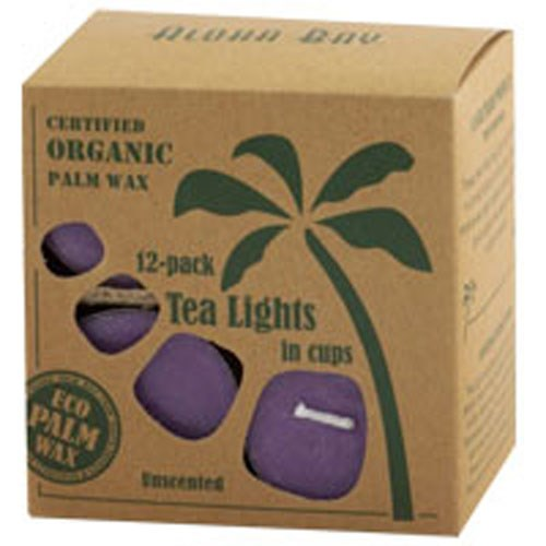 Tea Light Candles Unscented Lavender 12 pack by Aloha Bay