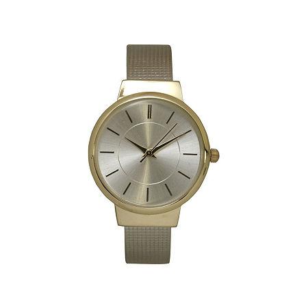 Olivia Pratt Womens Gold Tone Bangle Watch-27011gold, One Size , No Color Family