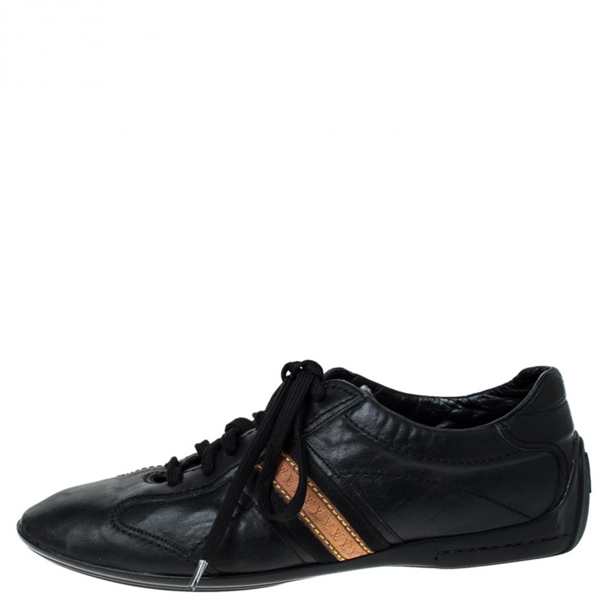 Louis Vuitton \N Sneakers in  Schwarz Leder