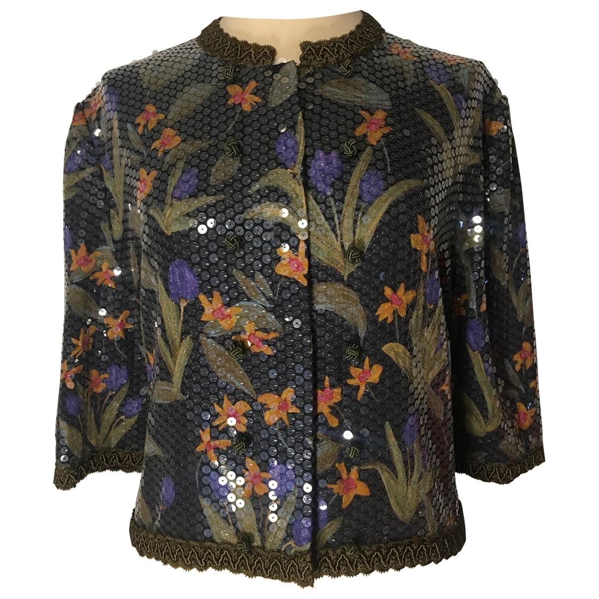 Giorgio Armani - Pull   pour femme en soie - multicolore