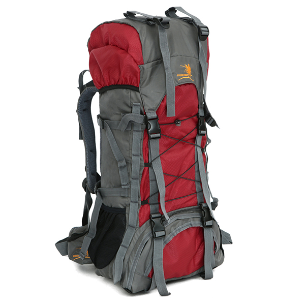 60L Waterproof Nylon Lightweight Travel High Capacity Outdoor Backpack