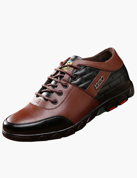 Milanoo Round Toe Lace Up Elevator Shoes