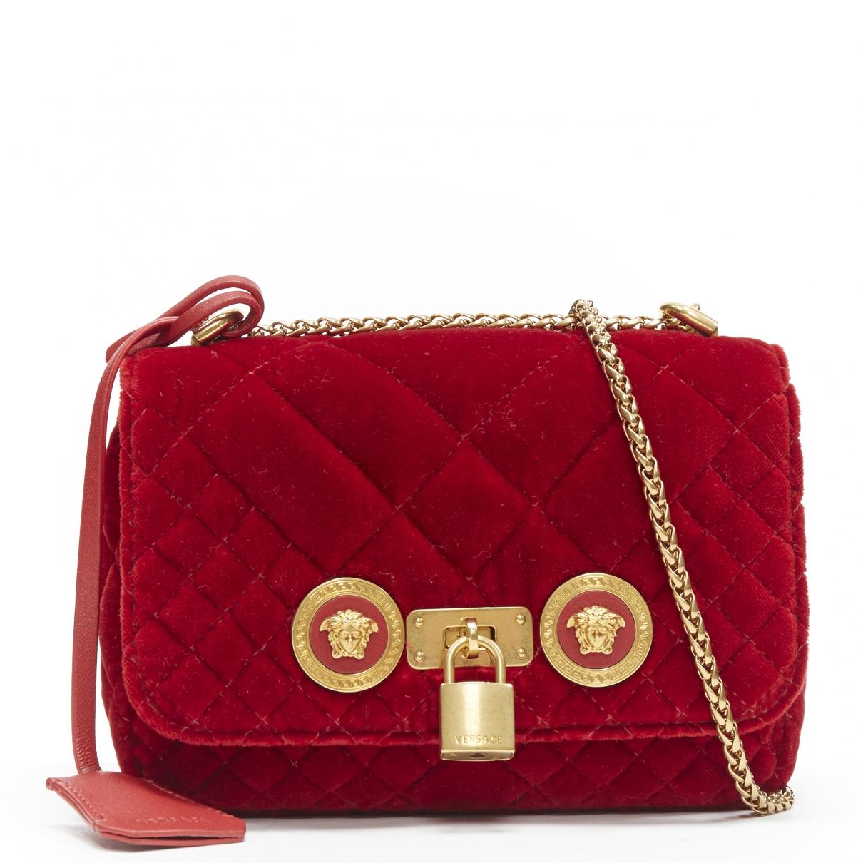 Versace \N Handtasche in  Rot Samt